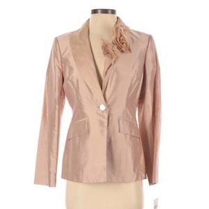 Bloomingdales Silk Blazer Rose Dusty Pink Size 4p